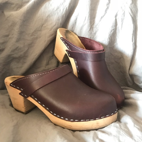 c62f8ddd0f1 lotta from stockholm Shoes - Burgundy clogs by Lotta from Stockholm